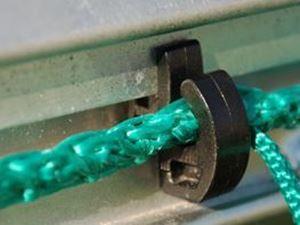 Image de Crochet pour filet sécurit en pvc noir la pièce