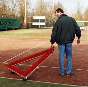 Afbeelding van  Borstel voor synthetisch terrein Triangle 1,50m ROOD