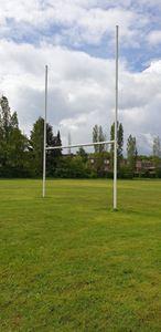 Image de Poteaux de rugby Hauteur 8,00m en aluminium à sceller Blanc
