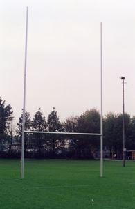 Image de Poteaux de rugby Hauteur 11,00m en aluminium à sceller Blanc