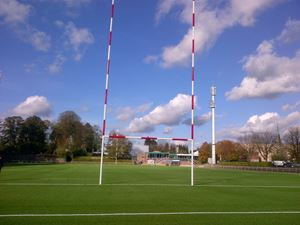 Image de Poteaux de rugby Hauteur 16,00m en aluminium à sceller Blanc