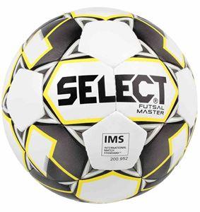 Image de Select Futsal Master (Grain) Football - Blanc / Gris / Jaune